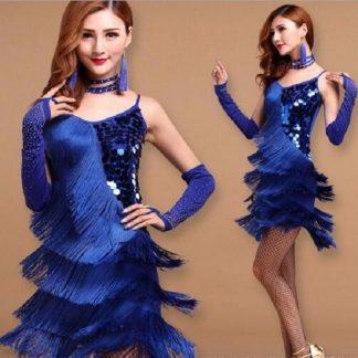 2997849d211 Γυναικεία Latin Στολή χορού με κρόσσια L08