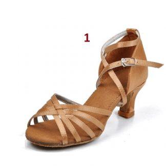 c40db56d1b Παπούτσια Latin πλεκτό με 5 cm τακούνι-σε 5 χρώματα
