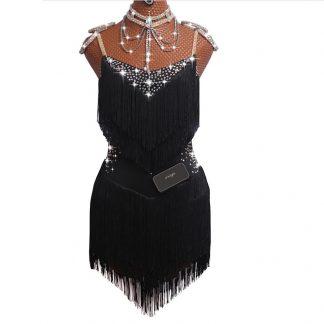 Γυναικείο φόρεμα Latin χορού με κρόσσια L44 5c6f5587a5a